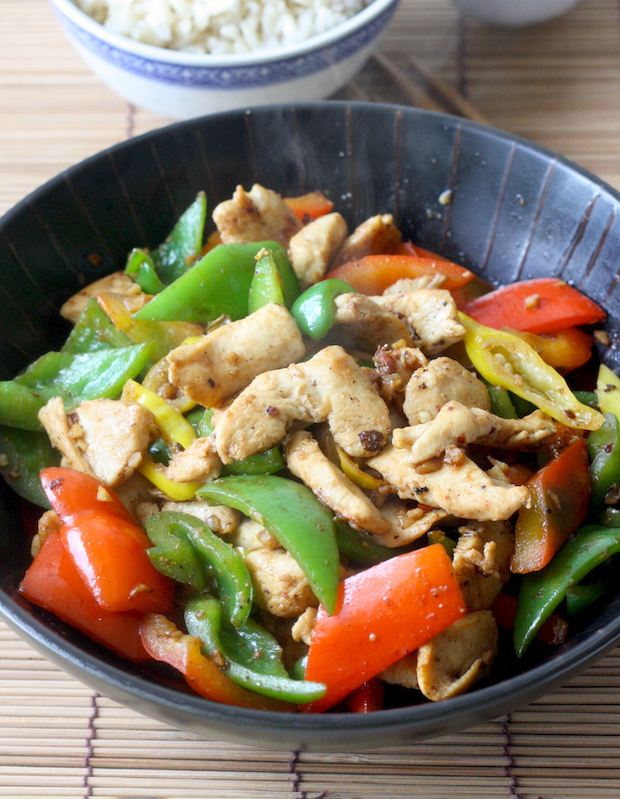 Miso Chicken with Bell Pepper by SeasonWithSpice.com