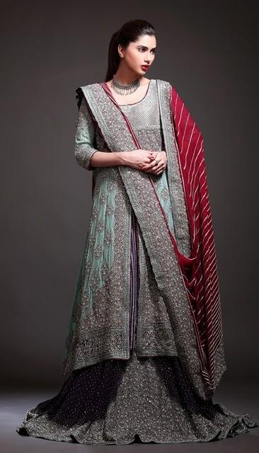 Tilla Work New Bridal Dresses In Pakistan Baraat