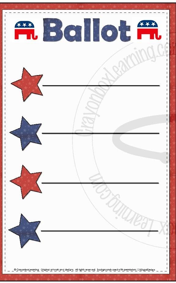 Blank Ballot 2014 republican party ballot