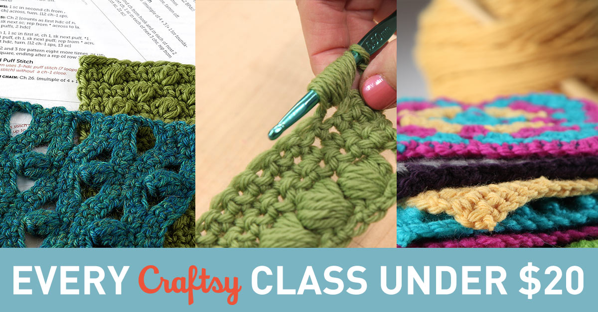 All Craftsy Classes under $20. And it's all for you.
