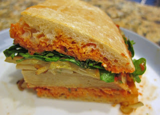 The Vegan Chronicle: Tofurky Sandwich with Red Pepper-Pine ...