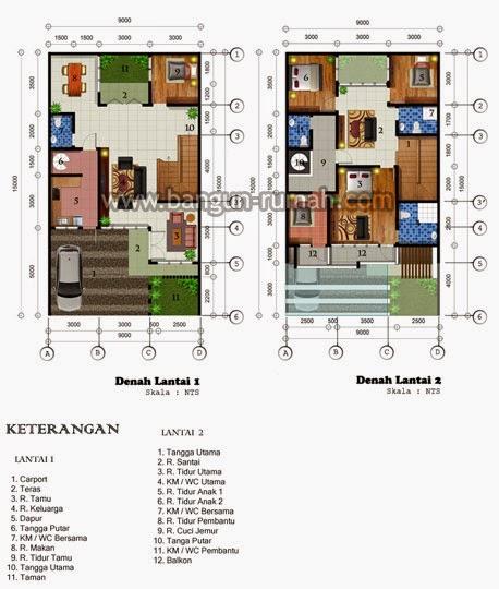 sketsa denah lantai 1 rumah type 80 sketsa denah lantai 2