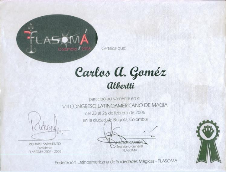 Certificado Flasoma