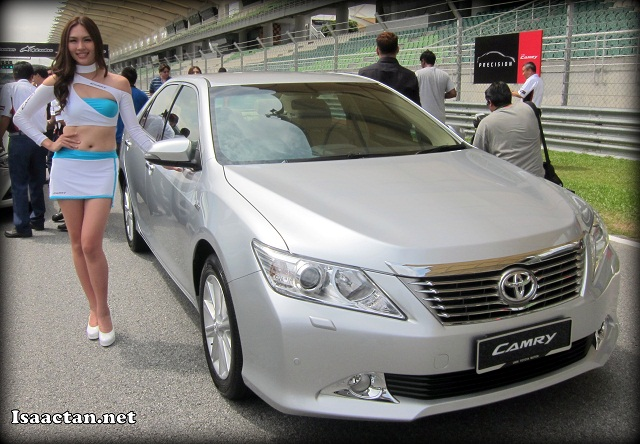 The All-New Toyota Camry being unveiled on the tracks of Sepang International Circuit