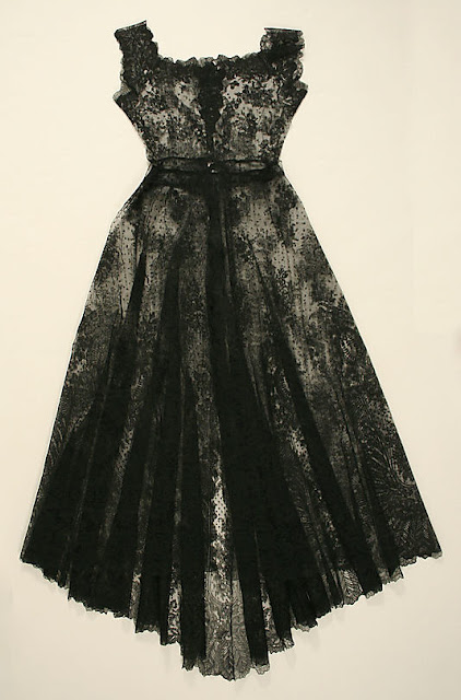 French black lace wedding gown 1869 Image courtesy of MET