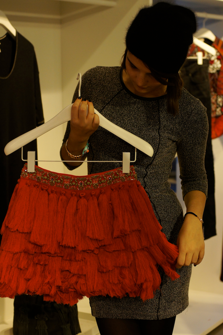 H&amp;M spanish skirt orange