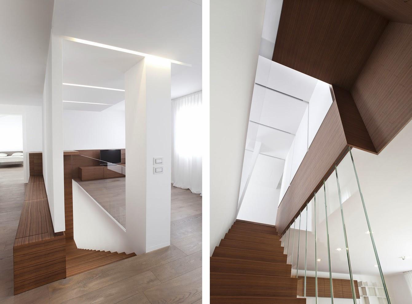 Muebles a medida en madera de zebrano espacios en madera for Muebles madera a medida