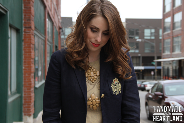 Navy and Gold Outfit, Fashion Post