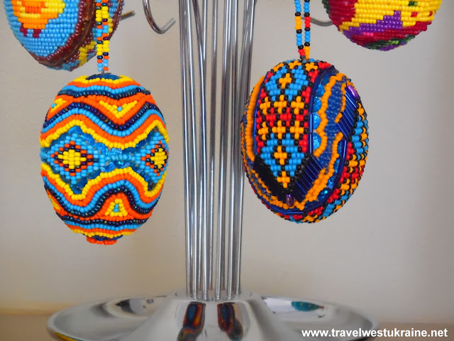 Beaded artwork from Lviv, Ukraine