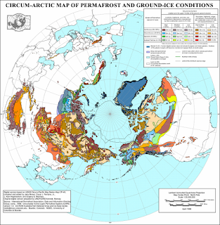 map des zones Permafrost