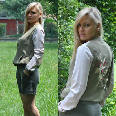 outfit safari outfit bomber stampato come abbinare il bomber outfit verde militare come abbinare il verde militare how to wear bomber danilo di lea scarpe danilo di lea danilo di lea shoes outfit giugno 2015 outfit estivi mariafelicia magno fashion blogger color block by felym fashion blog italiani fashion blogger italiane outfit estivi summer outfits june outfit