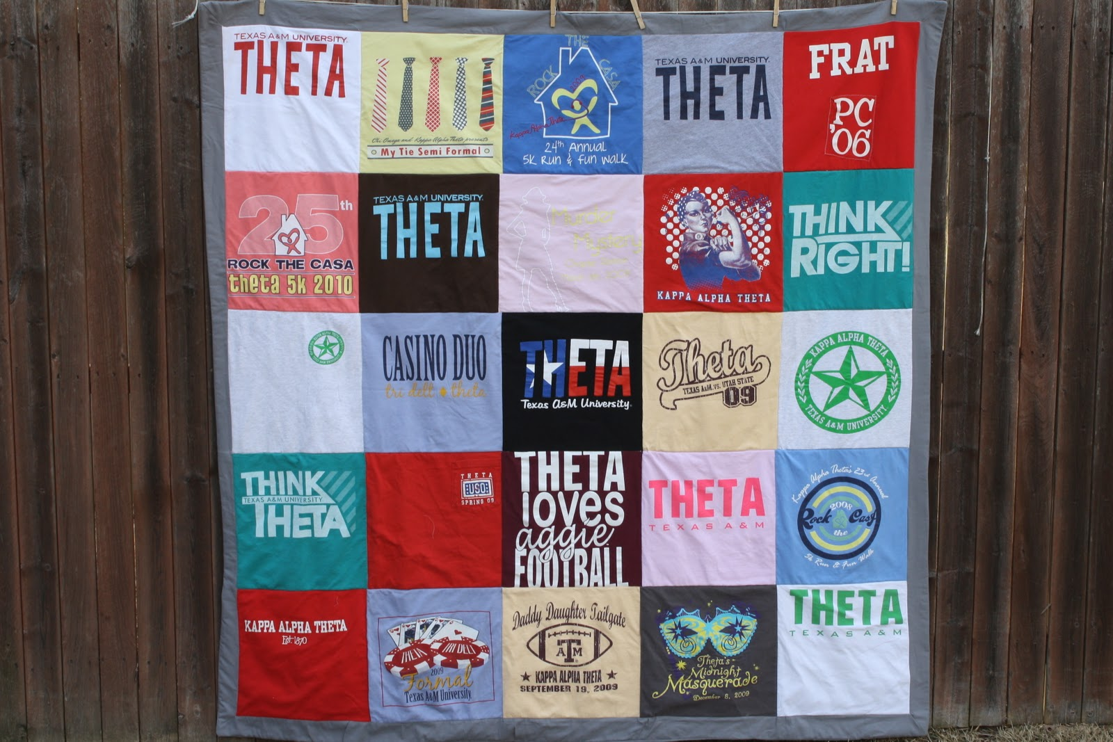 Diy t shirt quilt part two of two caroline hulse blog for How to make t shirt quilts easy