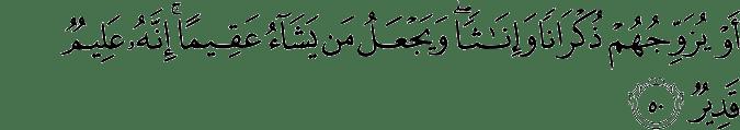Surat Asy-Syura ayat 50