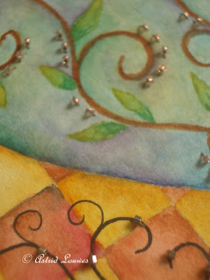 Aquarel with beads
