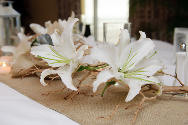 white orchids from the flowers to the tables