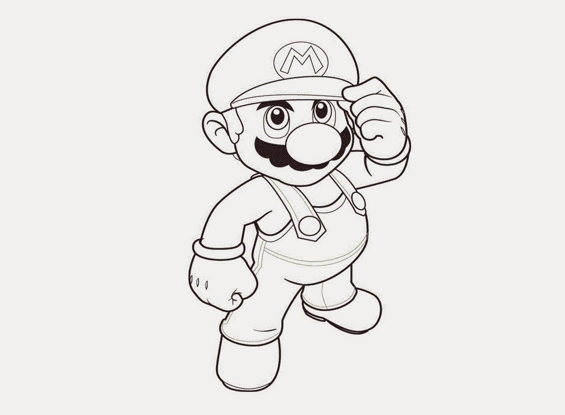 Super Mario Bros Coloring Drawing Free wallpaper