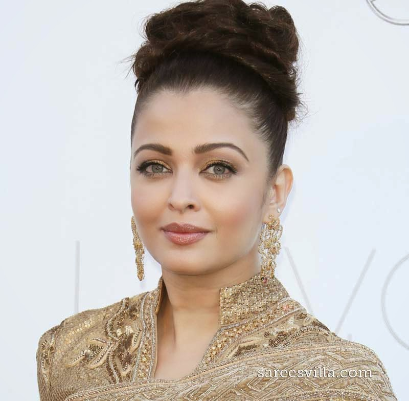 Aishwarya Rai Bun Hairstyle