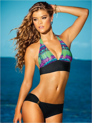 Nina Agdal hot pose model in sexy bikini body for Leanisa sexy swimwear new collection