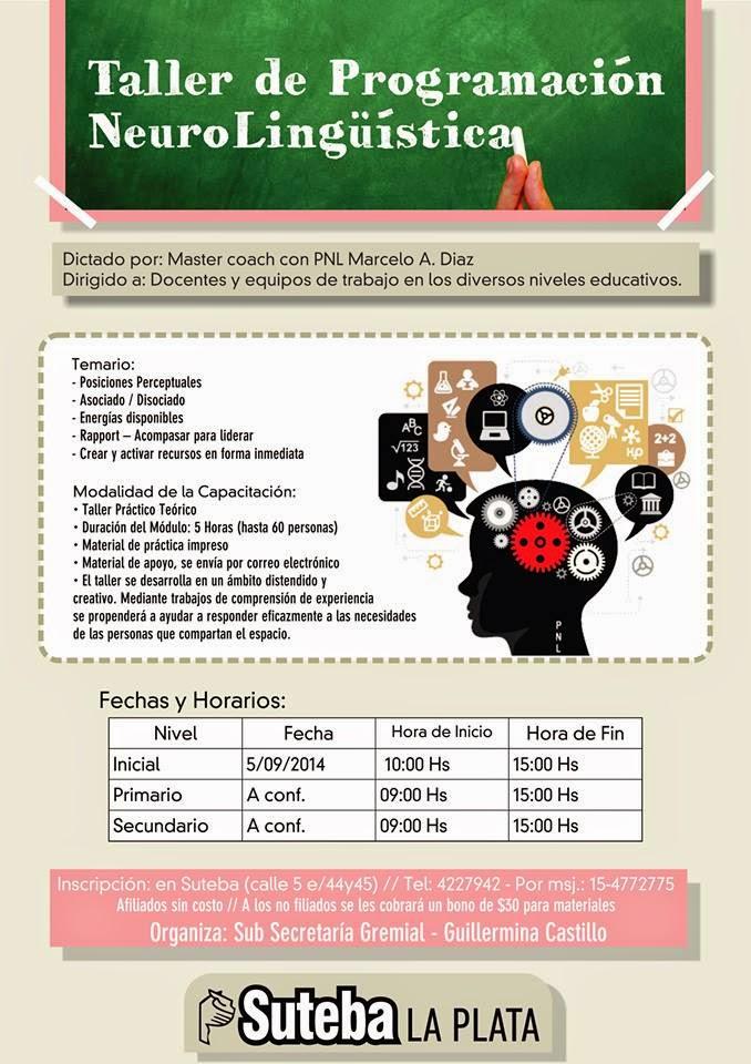 SUTEBA La Plata: Taller de programación neurolingüística