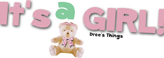 It's a Girl Button with Teddy Bear