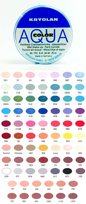 Kryolan Egypt Aquacolor