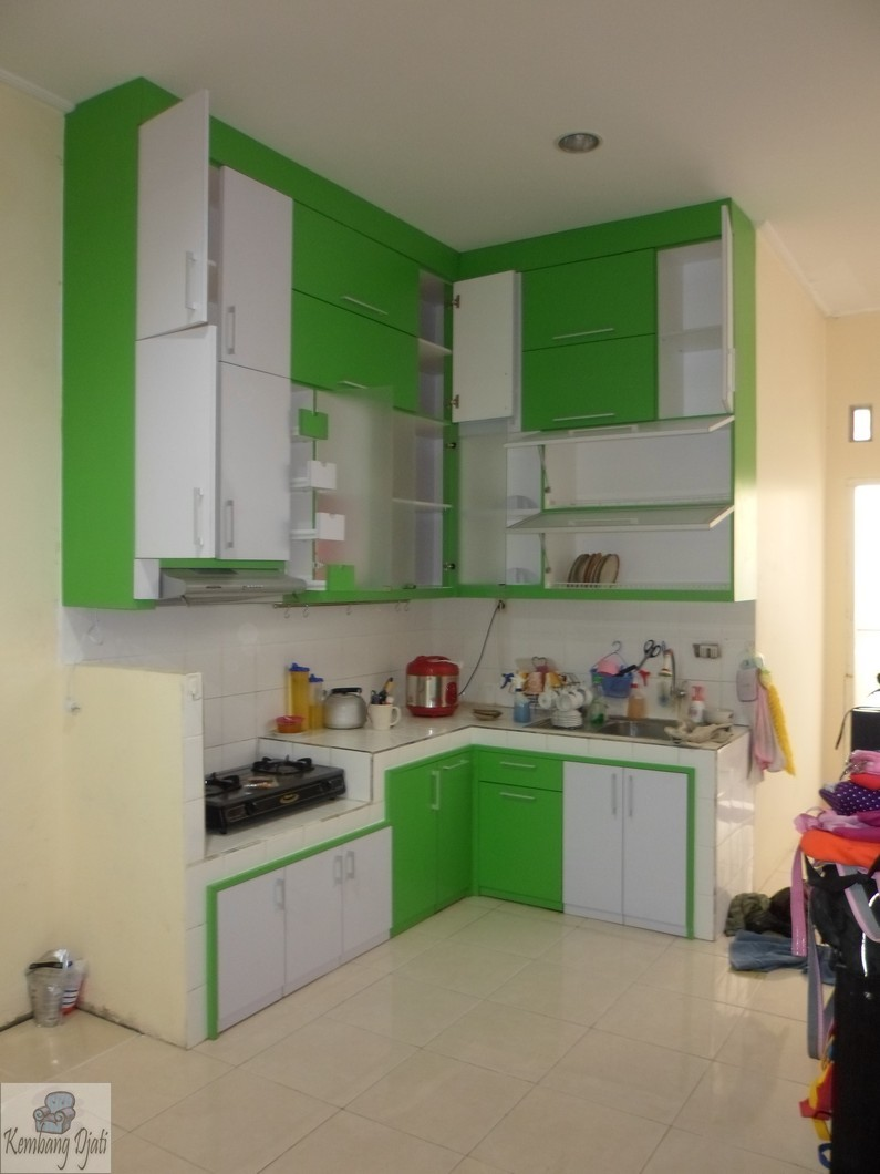 Kitchen Set Semarang  Desain Tinggi Sampai Plafon  Furniture Semarang  Kit # Ukuran Washbak_110422