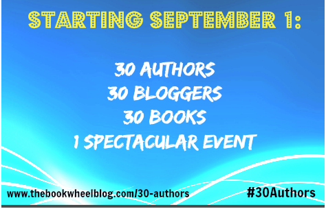 http://www.thebookwheelblog.com/30-authors-announcement/