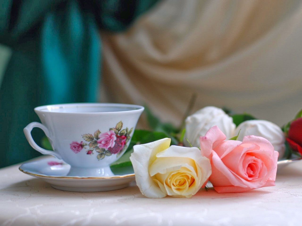 still life with tea roses flower type hd wallpapers