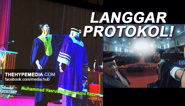 Graduan UITM Berselfie Langgar Protokol Majlis Konvo