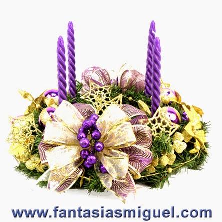 hermosa corona para navidad