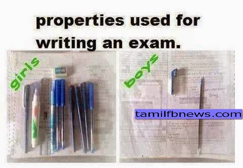 Properties used for Exam Girls vs Boys