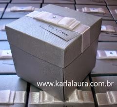 Convite Bodas de Prata - Caixa de montar