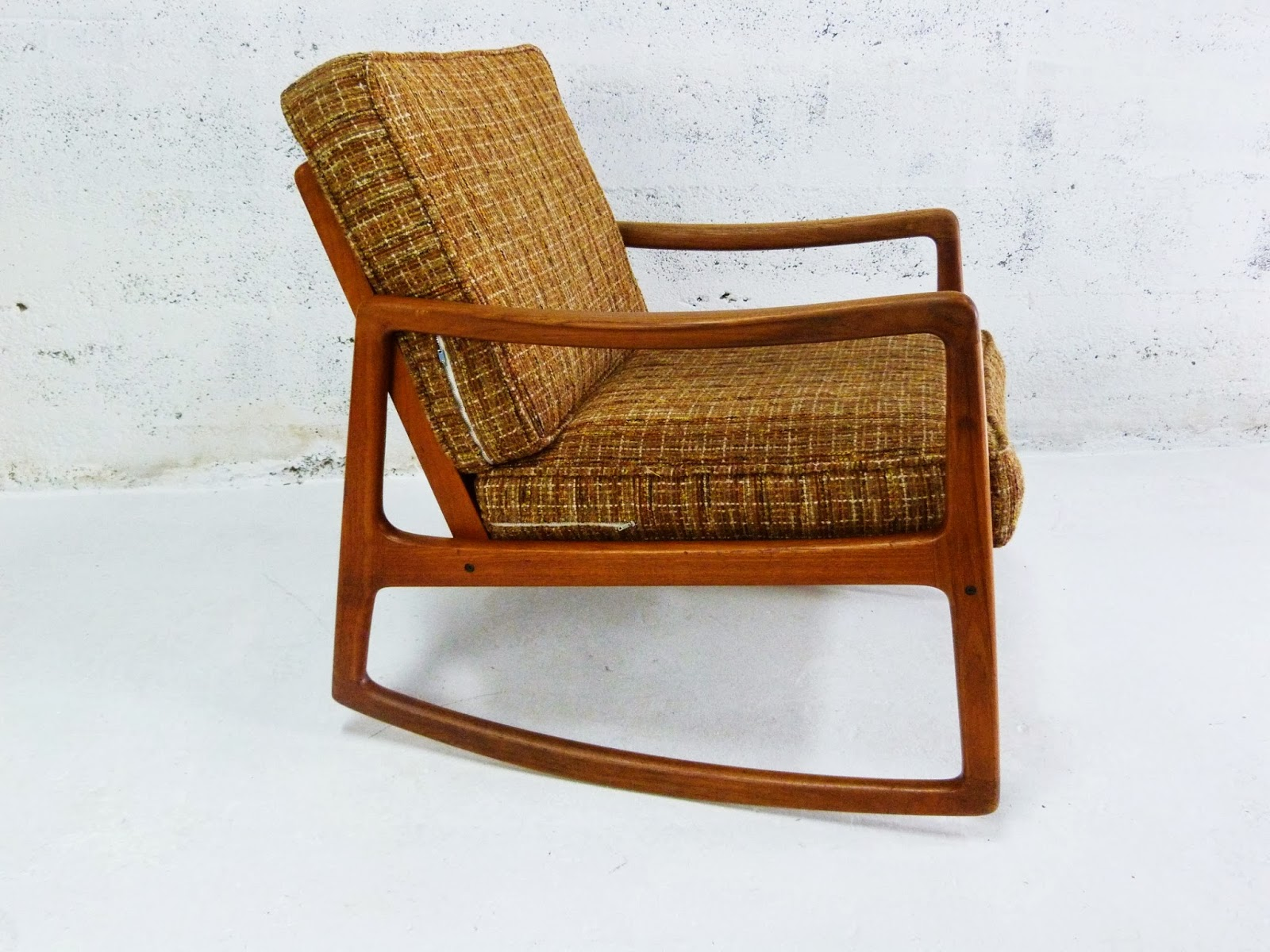 Price reduced sturdy wooden vintage rocking chair made in yugoslavia - A