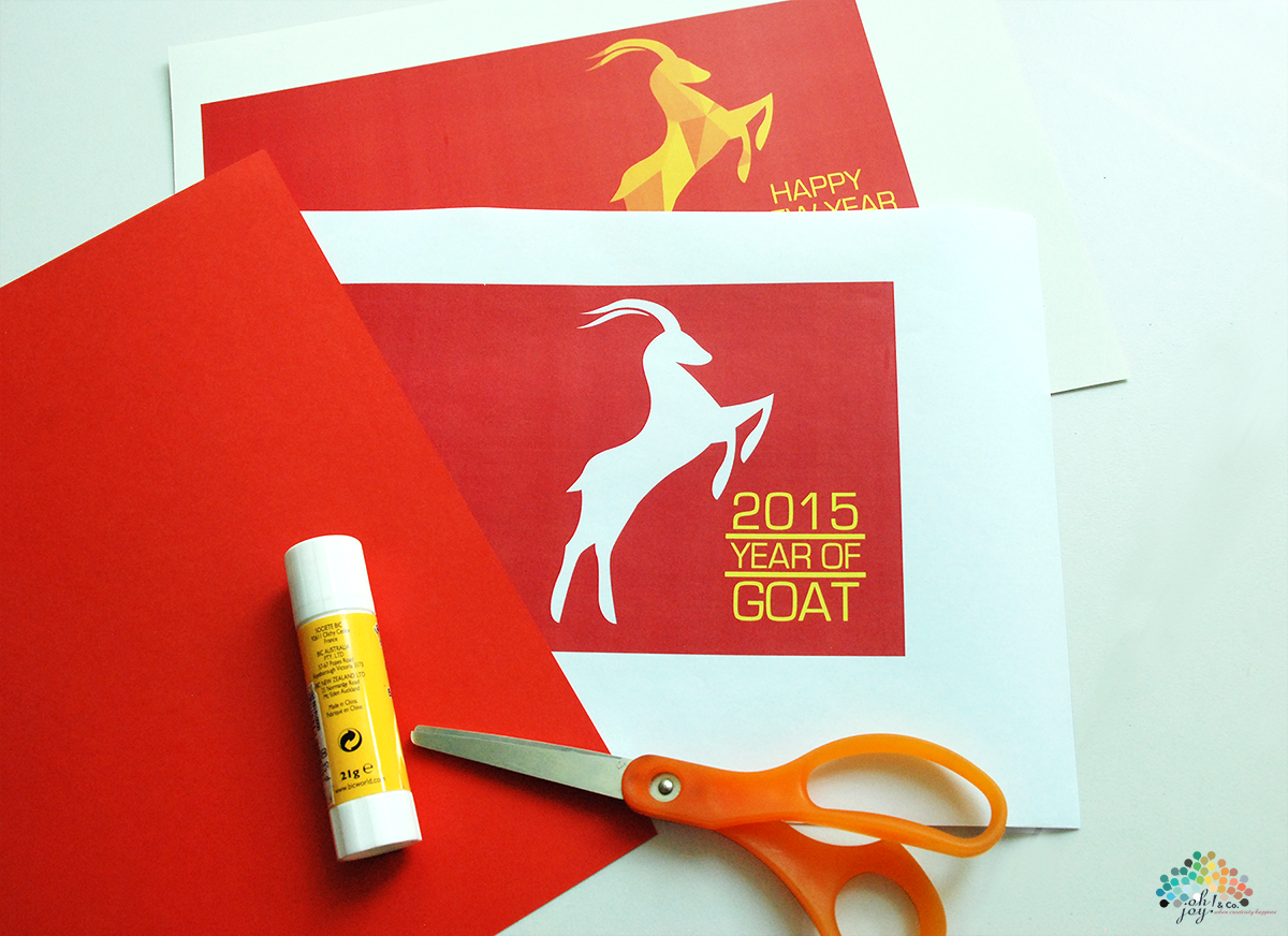 Ojc 2015 Year Of The Goat Chinese New Year Card Craft
