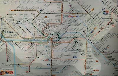 Mapa red de ferrocarriles Franckfurt Main