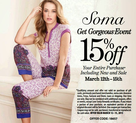 Soma discount coupons