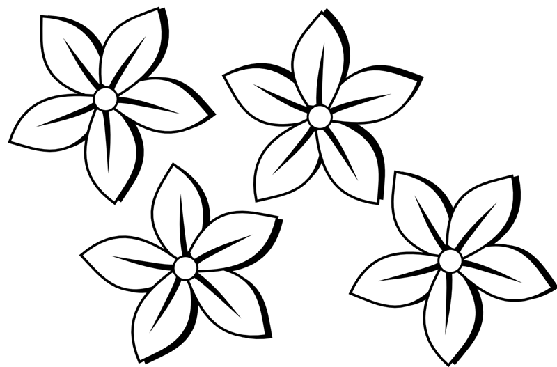 Flowers clip art black and white free flowers clip art