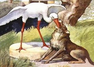 Il lupo e la gru (Fedro)