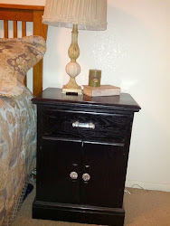 Black night stand w/ glass knobs- SOLD