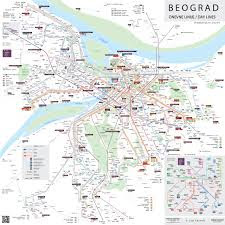 map of public transport Belgrade