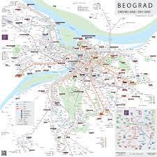 map of public transport Belgrade