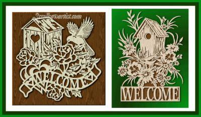 http://www.scrollsawartist.com/birdhouse-welcome-2.html