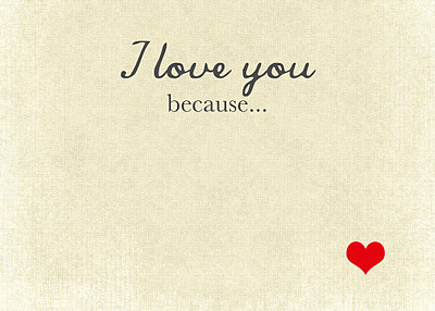 Alfa img - Showing > I Love You Because Template Printable