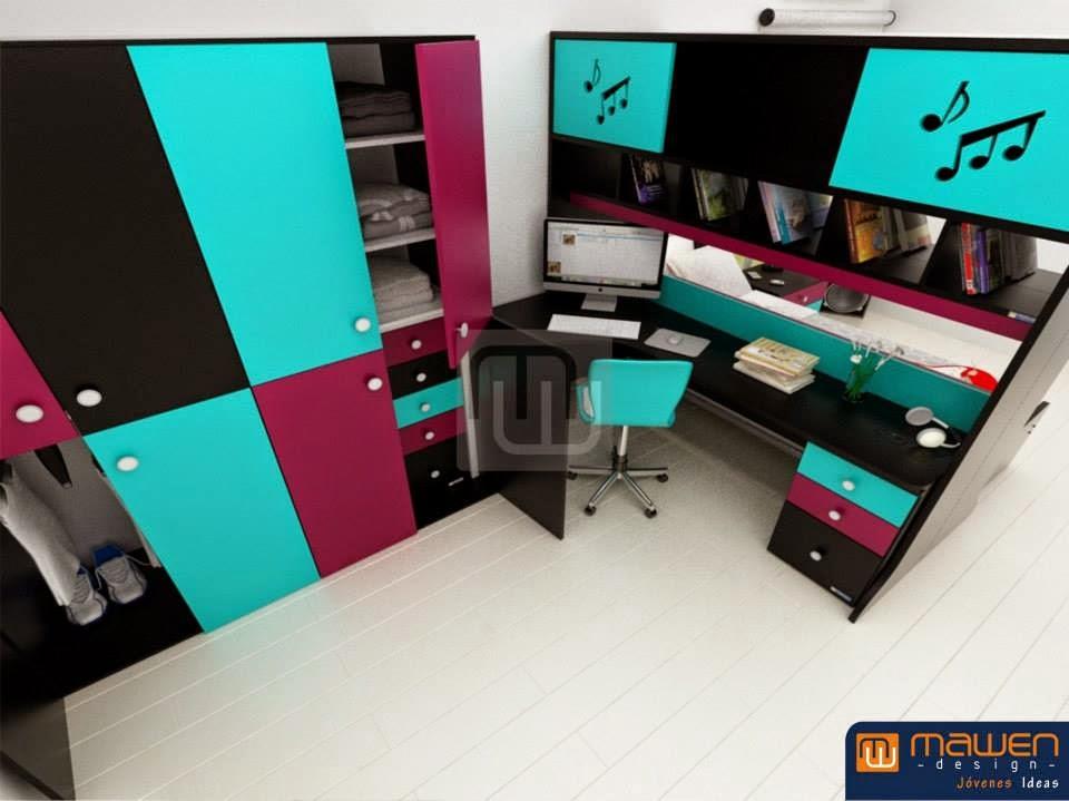 escritorios con diseos musicales para juveniles modernos