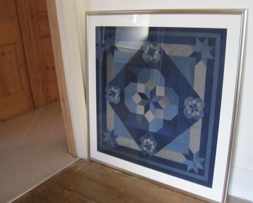 Oakshott Blue Wall hanging quilt