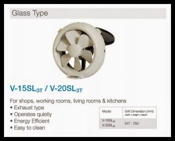 ventilation fan glass type
