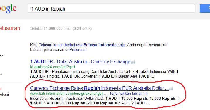 Informasi perdagangan mata uang