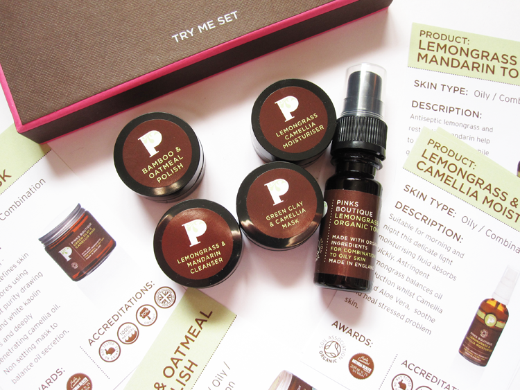 A picture of Pinks Boutique Lemongrass Facial Try Me Set review