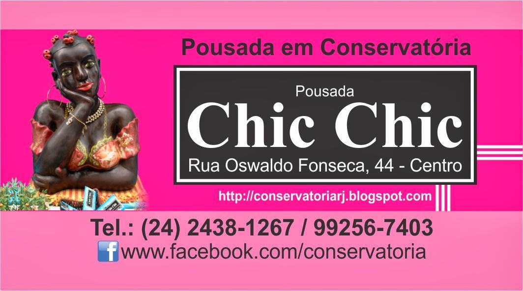 Em Conservatória a Pousada Chic Chic oferece o melhor custo e benefício. Centro, barata e limpa.