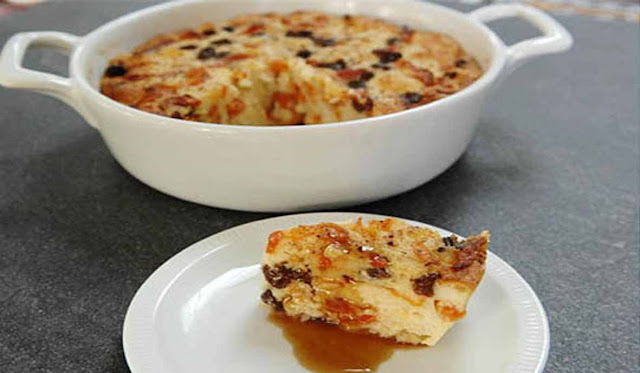 Resep Puding Roti Apricot
